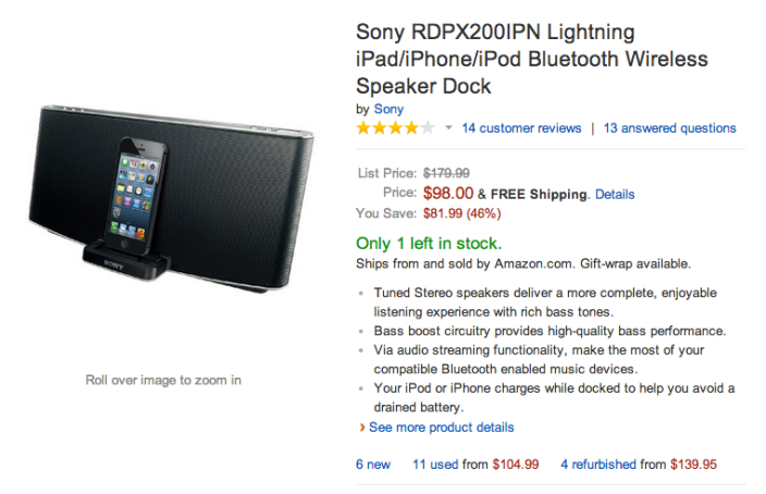 Sony Lightning iPad:iPhone:iPod-Bluetooth-wireless speaker-RDPX200IPN-sale-02