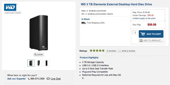 Western Digital 3TB Elements USB 3.0 desktop drive-sale-02