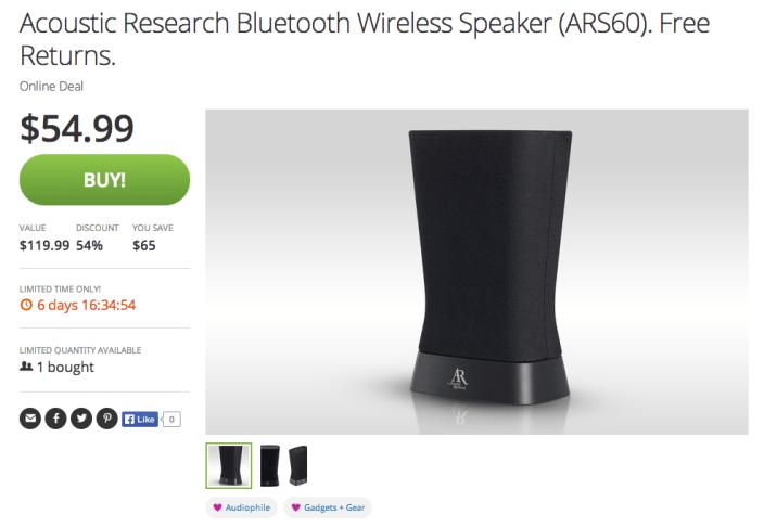 Acoustic Research-BT speaker-sale-01