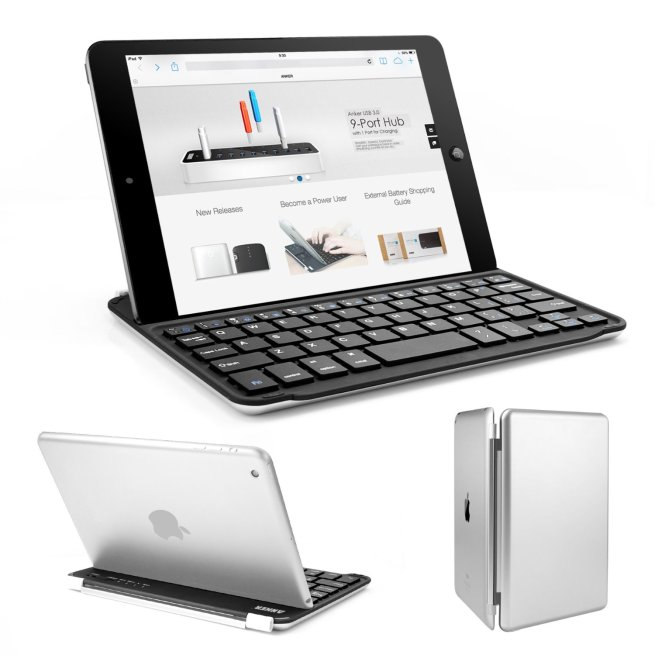 ipad bluetooth keyboards anker ultra slim aluminum for mini 20 logitech ultrathin for ipad 2. Black Bedroom Furniture Sets. Home Design Ideas