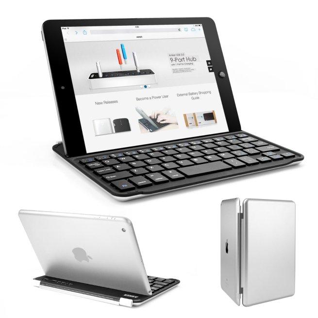 Anker® Ultra-Slim Bluetooth Wireless Aluminum Keyboard Cover for iPad mini 2 : iPad mini
