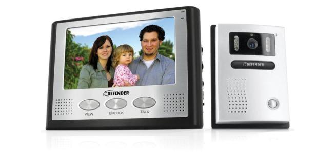 Defender Gatekeeper All-in-One Hands-Free Color Video Intercom System with 7'' LCD Monitor, Night Vision Outdoor Camera, Weatherproof Construction & Installation Hardware