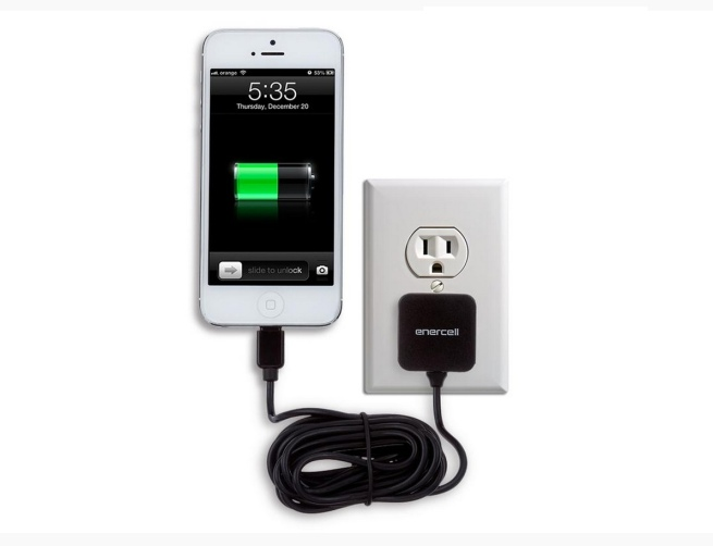 Enercell MFI Certified Lightning Travel Wall Charger for Apple iPhone 5:5S:5C, iPod Touch 5th Gen and iPod Nano 7th Gen with Extra-Long 9-Ft Charging Cable and Overcharge Protection