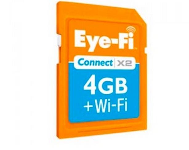 Eye-Fi Connect X2 Wireless 4GB SDHC Memory Card, Wi-Fi, Class 6