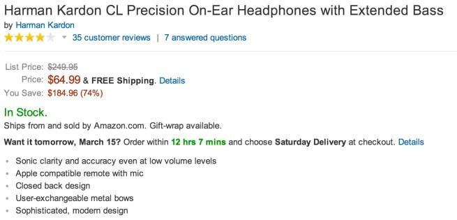 Harman Kardon CL Precision On-Ear Headphones