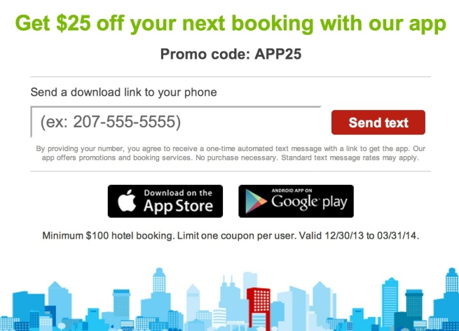 hotwire $25 off app purchase