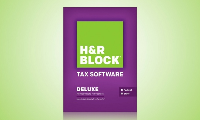 H&R Block At-Home Deluxe Tax Software Including One State Program. Free Returns.