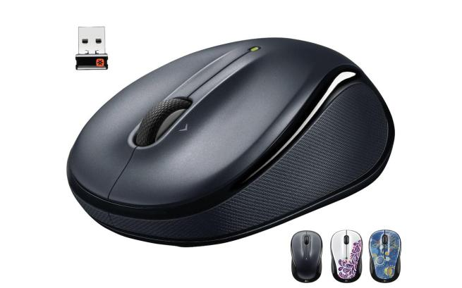 Logitech M325 2.4 GHz Wireless Portable Optical Mouse with Contoured Design and Hyper-Fast Scrolling (Choice 3 Colors)