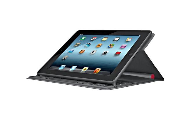 Logitech Solar Bluetooth Keyboard Folio Case with Built-In Multi-Mode Stand For iPad 2, 3 and 4