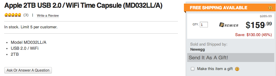 newegg-time-capsule-deal-2tb