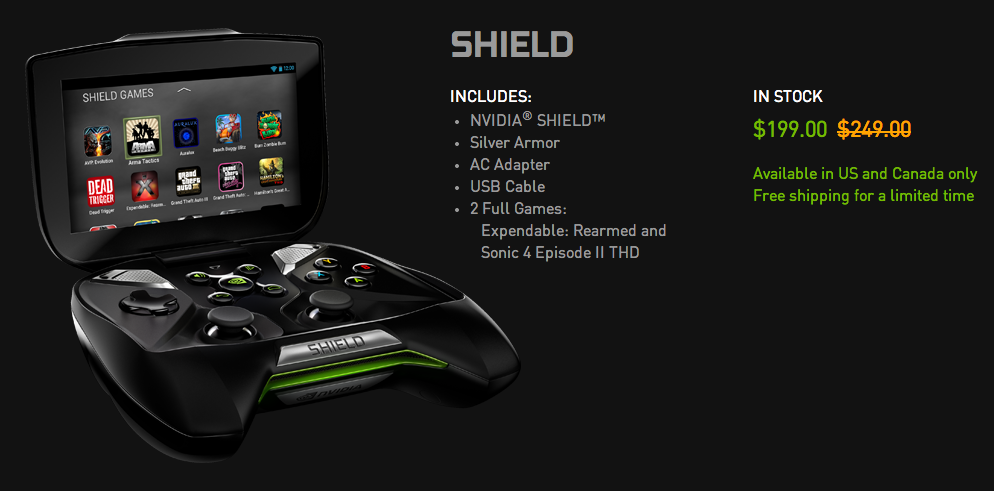 NVIDIA Shield portable gaming system gets a temporary $50