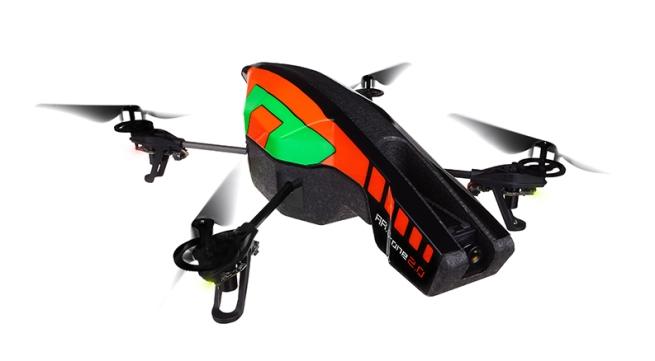 Parrot PF721000SE AR.Drone 2.0 Wi-Fi Quadricopter - Remote Flying Drone with HD Camera Controlled by iPod touch, iPhone, iPad & Android Devices