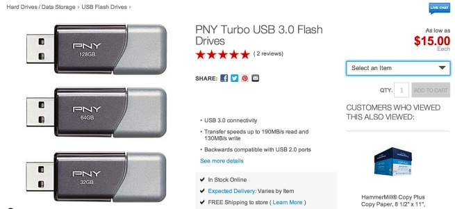 PNY Turbo USB 3.0 Flash Drives
