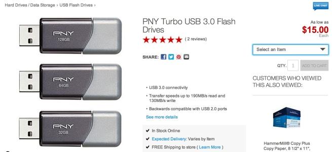 PNY Turbo USB 3.0 Flash Drives