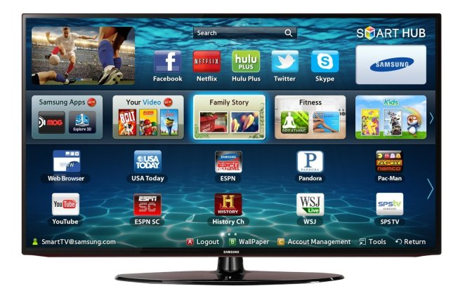 Samsung UN32EH5300 32%22 1080p LED Smart TV with Wi-Fi