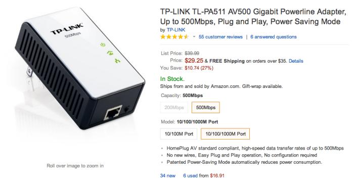 TP-LINK AV500 Gigabit Powerline Adapter-sale-02