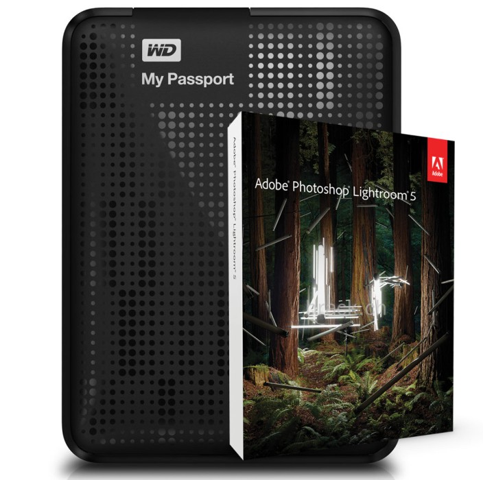 Western Digital My Passport Ultra 2 TB USB 3.0 Portable Hard Drive Black & Photoshop Lightroom 5