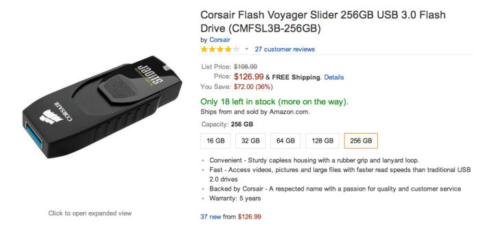 2-Corsair Flash Voyager Slider CMFSL3-03