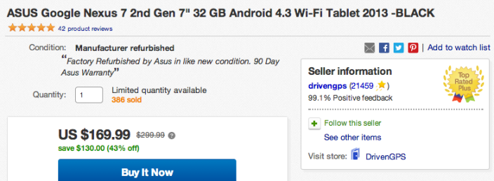 Asus Google Nexus 7 2nd gen 32GB 1080p (Refurb)-sale-01