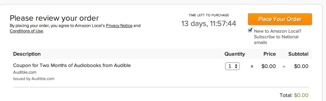 Audible Free Coupon Two months of audiobooks