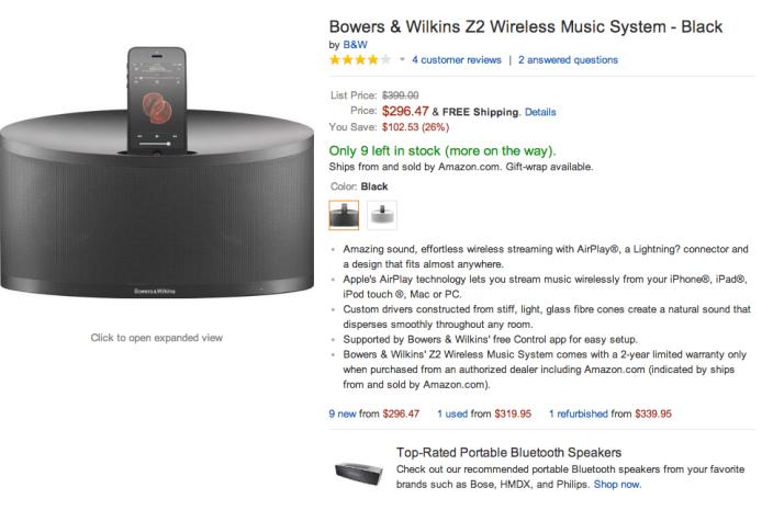 Bowers & Wilkins Z2 Wireless Music System-sale-02