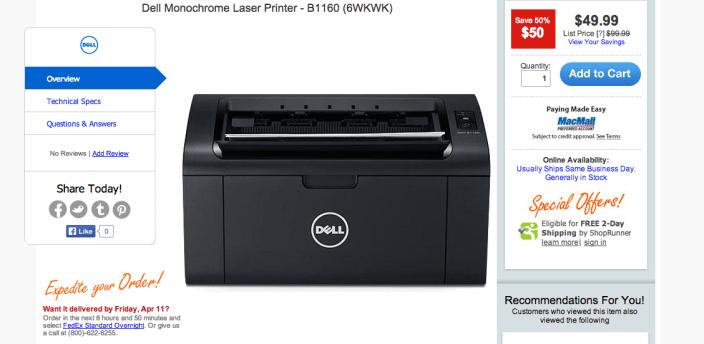 Dell B1160 Monochrome Laser Printer-sale-02