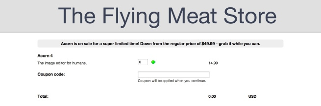 Flying Meat Acor 4 software sale