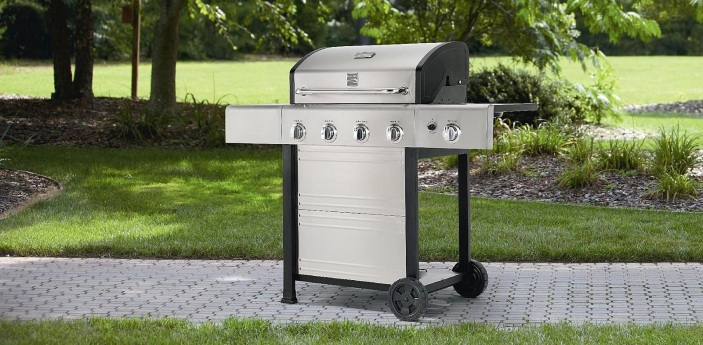 Kenmore 4 Burner Gas Grill With Stainless Steel Lid-sale-01