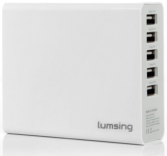 Lumsing 11,000mAh External Charger with 5xUSB Ports
