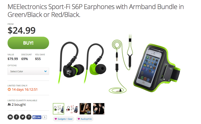 MEElectronics Sport-Fi S6P Earphones with Armband Bundle-sale-01