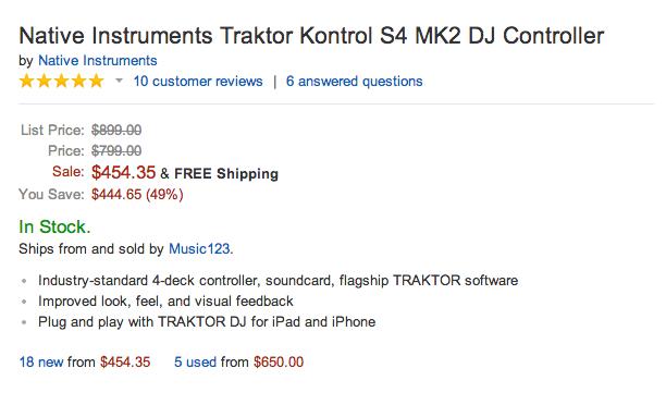Native Instruments Traktor Kontrol S4 (MK2) DJ Controller-iOS-Mac-iPad-sale-02
