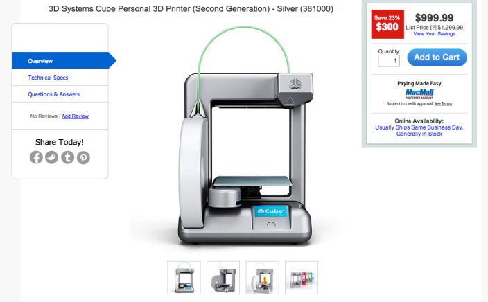 3D Systems Cube Personal 3D Printer-sale-03
