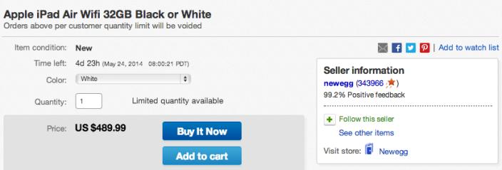 Apple iPad Air Wifi 32GB Black or White-sale-ebay-01