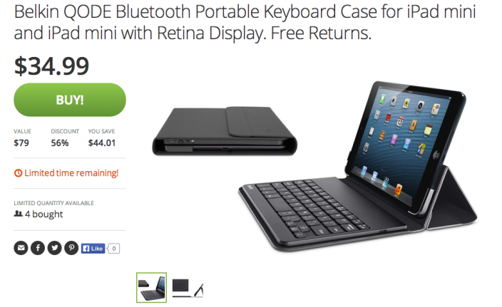 Belkin QODE Portable Bluetooth Keyboard and Case for iPad mini and iPad mini with Retina display (Black)-sale-02