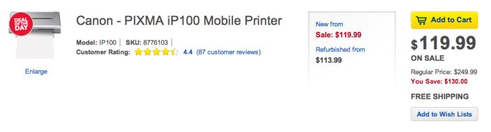 Canon PIXMA iP100 Mobile Printer-sale-DOTD-03