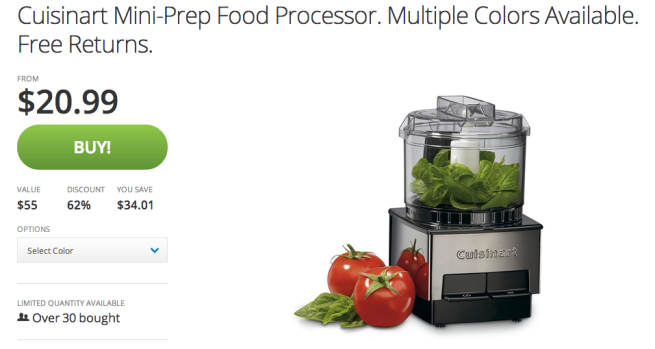 Cuisinart Mini-Prep Food Processor (Black:Silver or Red)-sale-01