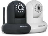 Foscam Pan:Tilt Wireless IP Camera w: 26' Infrared Night Vision, Smartphone Remote Viewing & Motion Detection