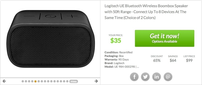 Logitech UE 984-000298 Mobile Boombox Bluetooth Speaker