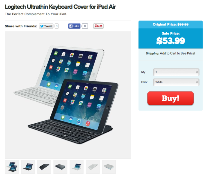Logitech Ultrathin Keyboard Cover for iPad Air-sale-02