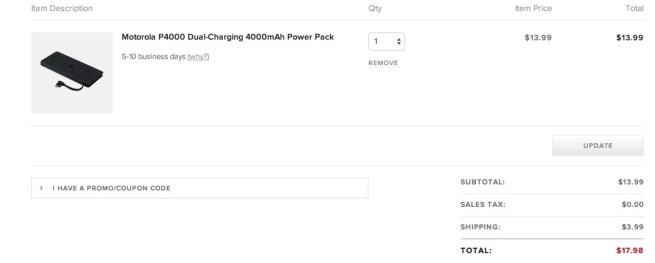 Motorola P4000 Dual-Charging 4000mAh