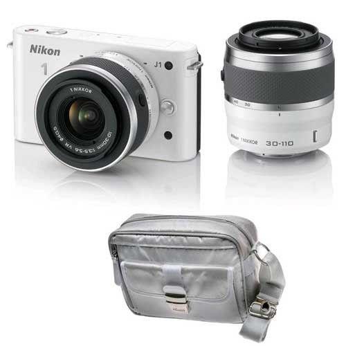 Nikon 1 J1 DSLR with 10-30mm VR, 30-110mm VR Lenses and Nikon Case