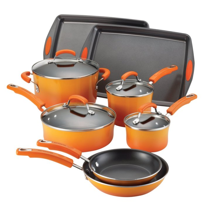 Rachael Ray Porcelain Nonstick 12-Piece Cookware Set-sale-01