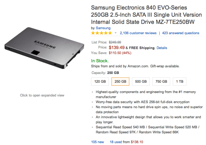 Samsung 840 EVO Series-sale-256GB-01