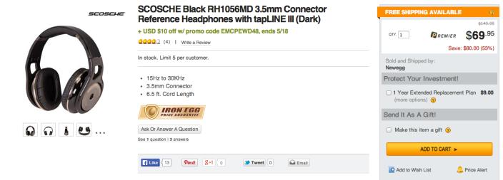 SCOSCHE (RH1056MD) Over-The-Ear Headphones with tapLINE III-sale-02