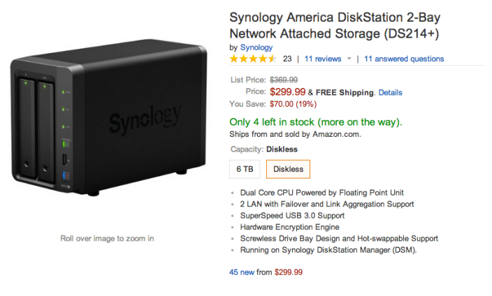 Synology DiskStation 2-Bay Network Attached Storage (DS214+)-sale-03