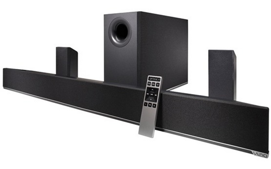 VIZIO S4251w-B4C 42%22 5.1-Channel Home Theater Bluetooth Sound Bar with Wireless Subwoofer & Wired Rear Satellite Speakers