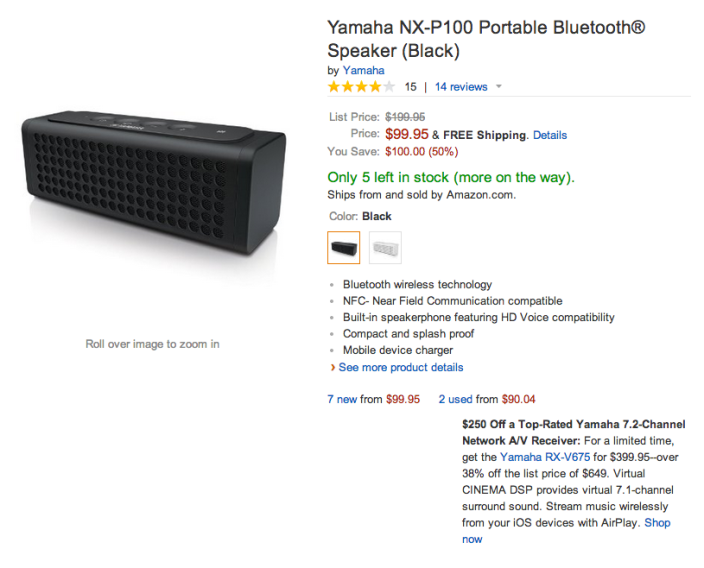 Yamaha NX-P100 Portable-Bluetooth Speaker-black or white-02