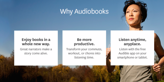 Two free months of Audible audiobooks for new and existing accounts ($30 value)