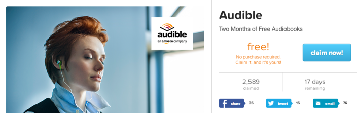 Audible Offers 2 Months Of Audiobooks W A Wsj Or Nytimes