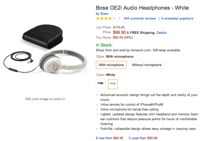 Bose OE2i Audio Headphones (in white)-sale-02